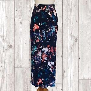 Watercolor Maxi Skirt sz 3